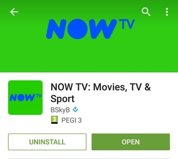 NOW TV Android app