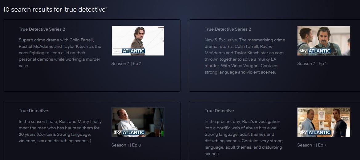 True DEtective on NOW TV